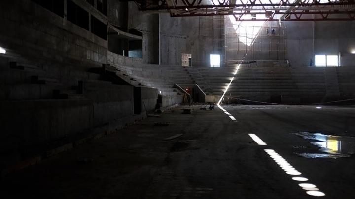 Подрядчики рассказали, когда начнётся отделка нового Дворца спорта на Молодогвардейской