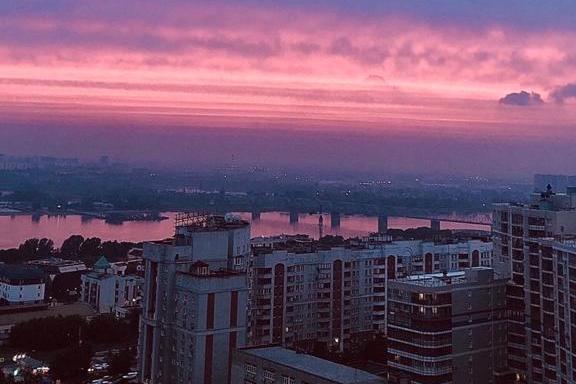 С высоты закат выглядел невероятно