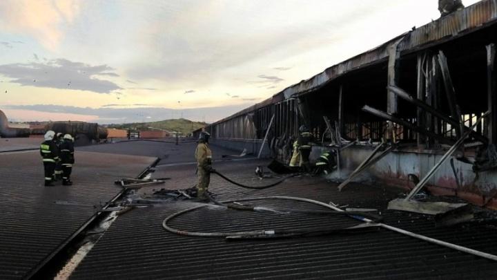 На ММК произошёл крупный пожар в листопрокатном цехе