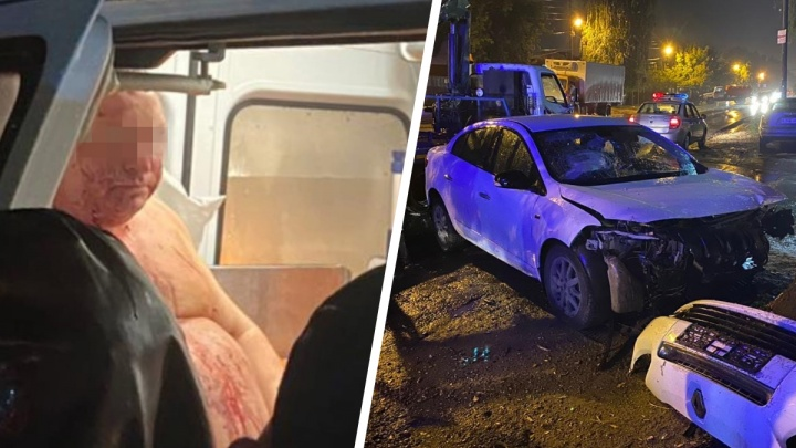 «Ночной патруль»: в Самаре пьяный военный пенсионер на «Рено» влетел в ассенизационную машину