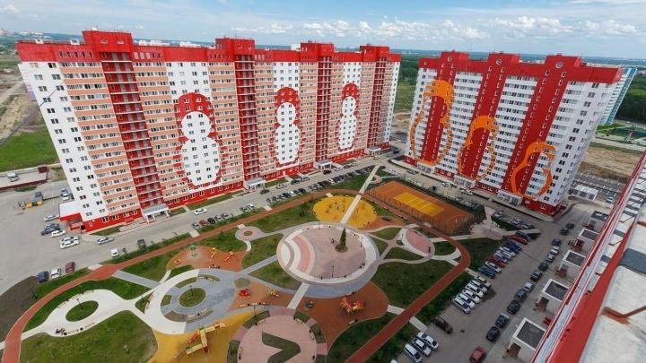На левом берегу строят огромный микрорайон, стоимость квадратного метра начинается от 43000 рублей