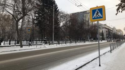 Возле Первомайского сквера перенесли пешеходный переход. Но не до конца
