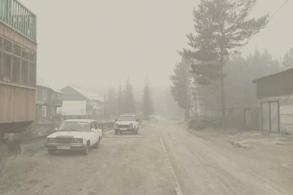 Так выглядел поселок Ванавара в момент сильнейших пожаров в прошлом году. Там не было даже и намека на чистое небо