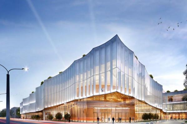 Стеклянные фасады будут отражать архитектуру города
