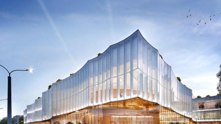 Стёкла-зеркала: смотрим, как будет выглядеть конгресс-холл у гостиницы Lotte