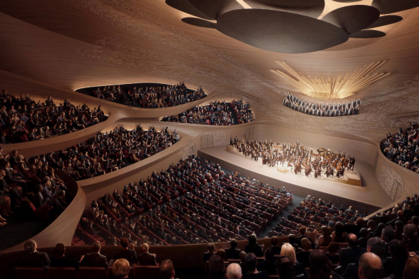В новом здании филармонии появится зал, спроектированный по типу «виноградника»