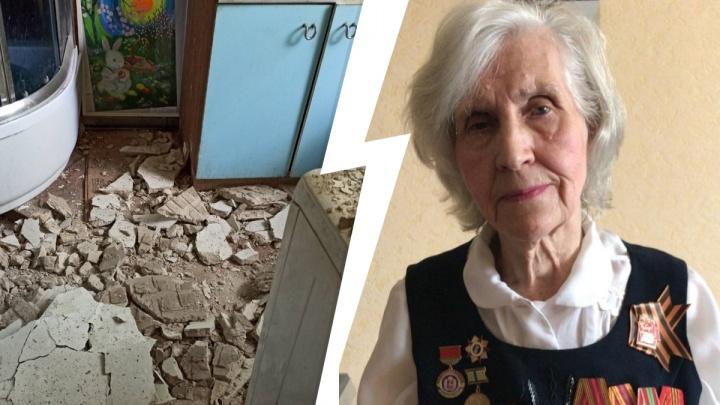В Нижнем Новгороде в квартире ветерана обрушился потолок. Прокуратура разбирается в причинах