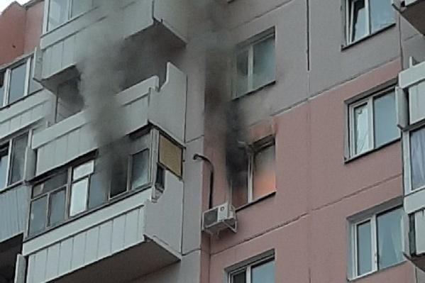 Площадь пожара составила пять квадратных метров — огонь был только на кухне
