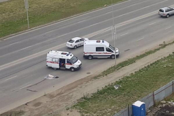 Авария произошла сегодня утром в 08:50.От полученных травм мужчина умер на месте ДТП