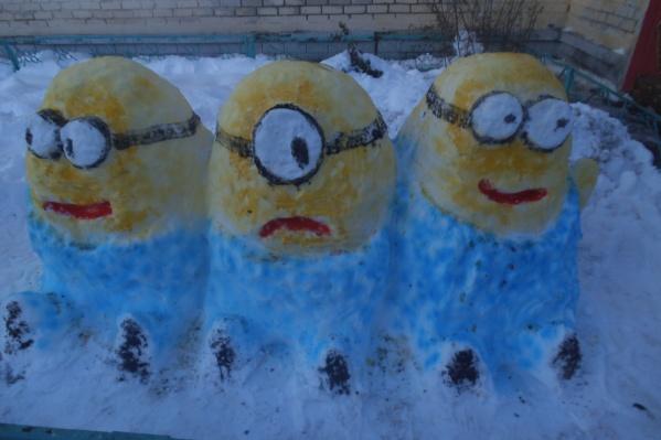 Снежные миньоны собрали все комплименты
