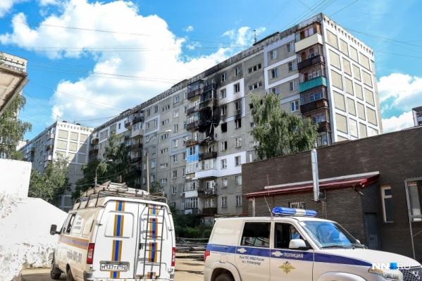 Взрыв произошёл на шестом этаже здания ранним утром
