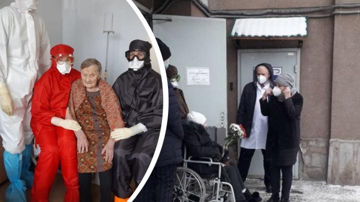 Из госпиталя ветеранов выписали 101-летнюю женщину, излечившуюся от коронавируса