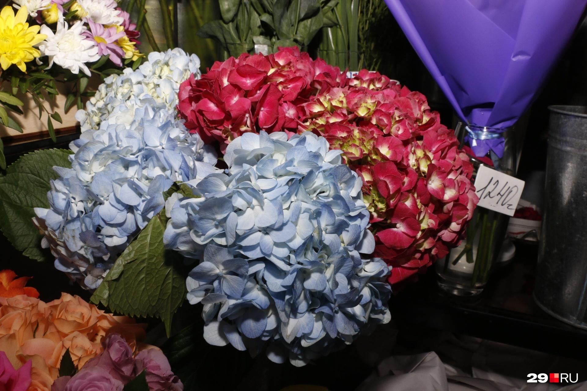 Ваш букет может состоять лишь из гортензии — крупного и самостоятельного цветка. Главное — умело его декорировать