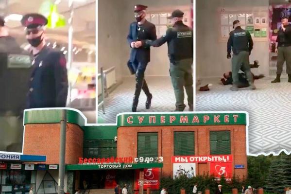 Очевидцы снимали часть конфликта на видео. Модно одетый визитёр и правда не стеснялся в выражениях