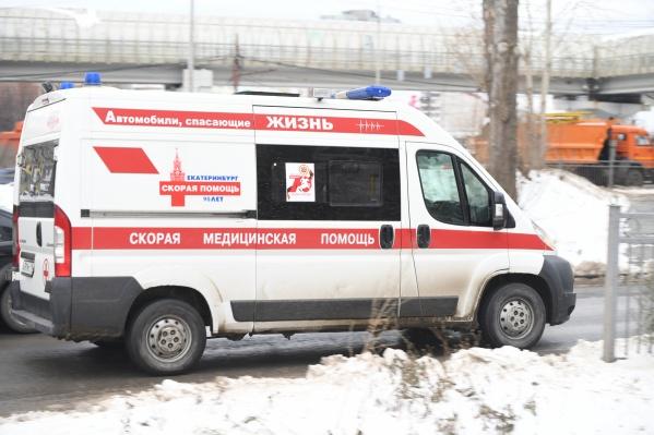 Женщину доставили в больницу