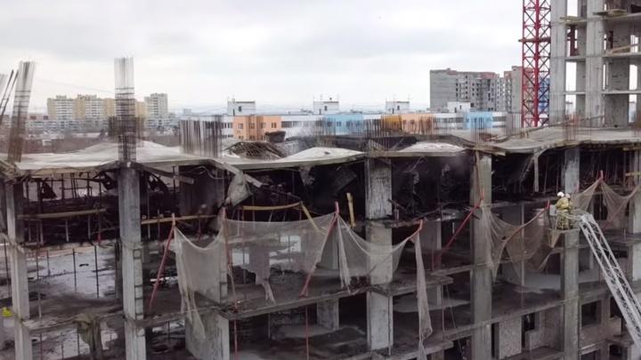 Самарский видеоблогер снял с высоты последствия пожара в новостройке на Московском шоссе