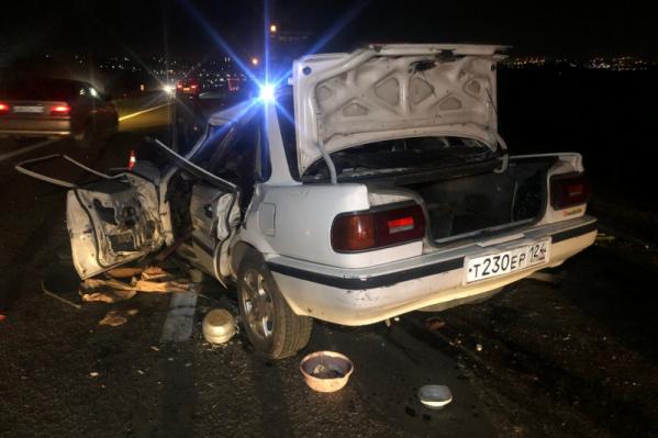 Трасса в сторону Красноярска была частично перекрыта после аварии