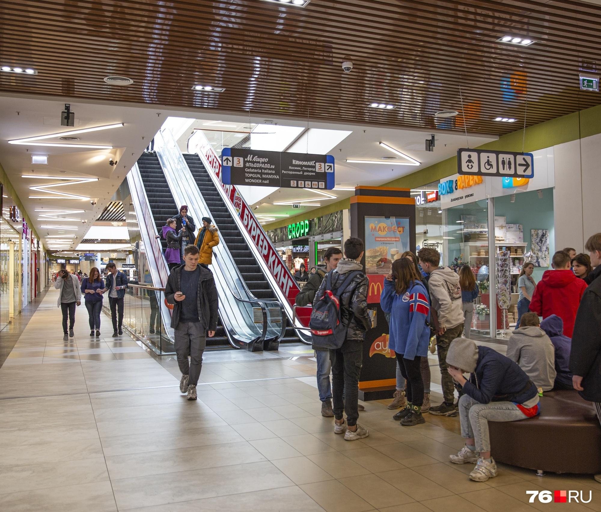 Торговые центры в последние годы стали местом притяжения подрост