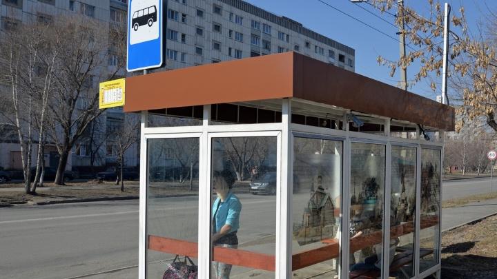 В Кургане в этом году вандалы испортили остановки на 178 тысяч рублей