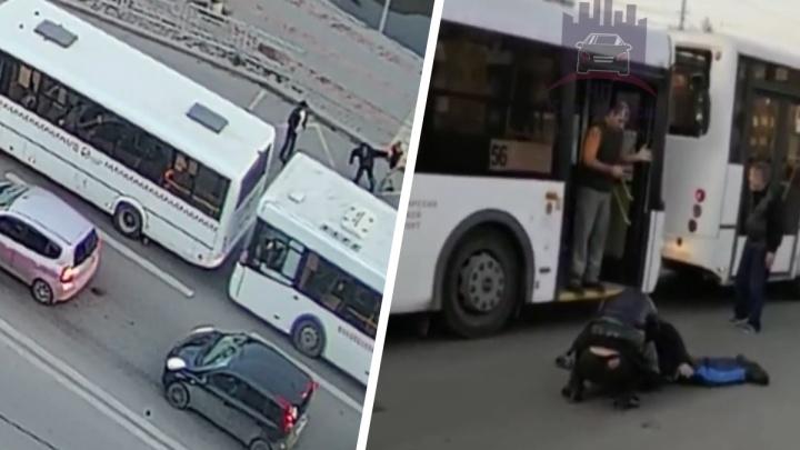 Водитель автобуса отправил в нокаут буйного пассажира