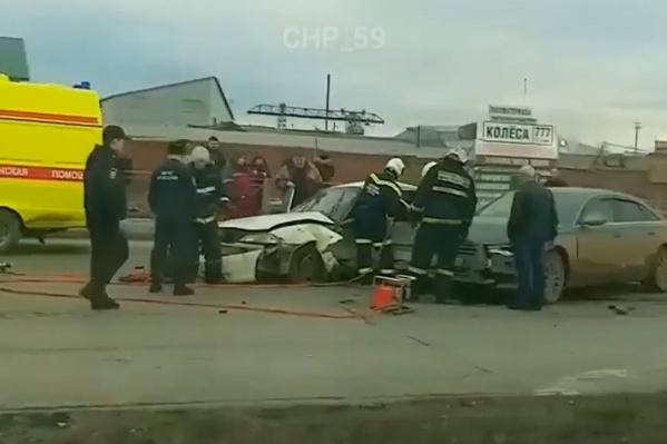 Авария произошла неподалеку от спортшколы «Олимпиец»
