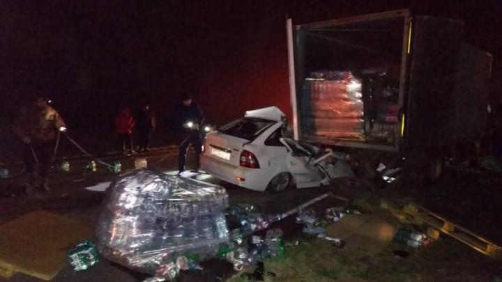 В Ремонтненском районе легковушка влетела в грузовик. Погибли двое