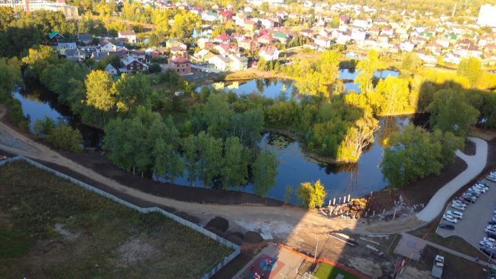 В Волгаре начали строить «Ерик Парк»