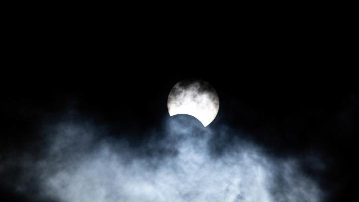 Кольцеобразное солнечное затмение над Новосибирском: как это было