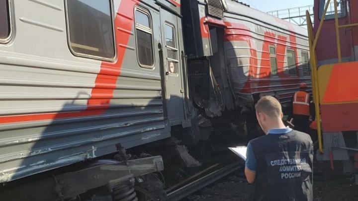 На станции Уфа столкнулись два поезда