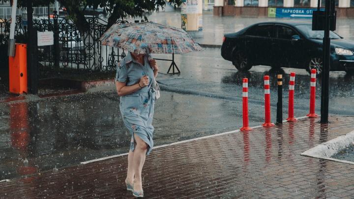 Теперь точно осень: в Тюменской области ожидаются град, сильный дождь и гроза