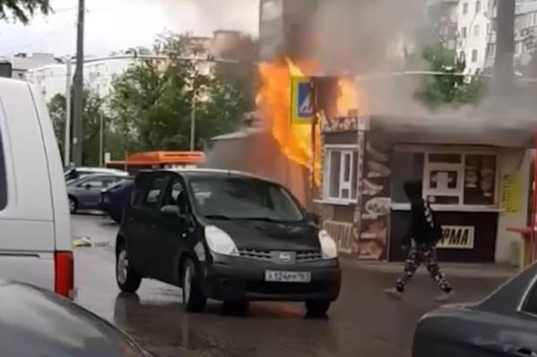 В пожаре на Западном погиб человек