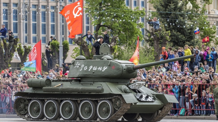 По пустому Волгограду в День Победы проедет легендарный Т-34