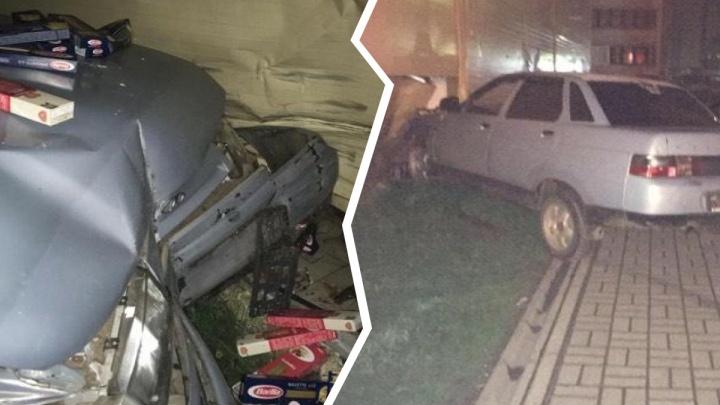 «Побежал макарошки готовить»: в Ярославле лихач протаранил супермаркет и сбежал
