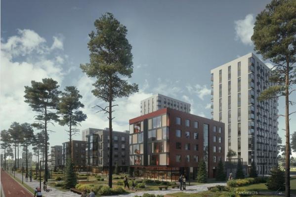 Многоэтажные дома будут цвета слоновой кости, малоэтажные— кирпичного цвета