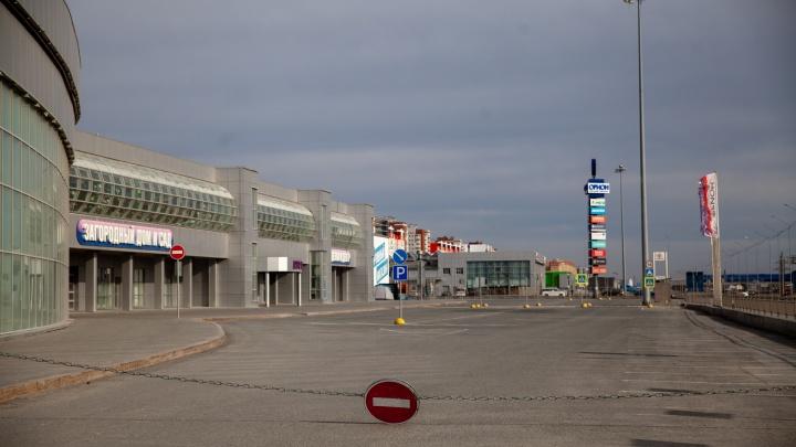 Вокруг пустота: как теперь выглядят парковки торговых центров в Тюмени. Фоторепортаж