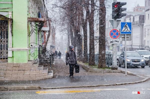 В выходные в Перми снова пойдет снег