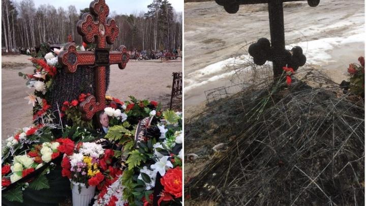 В Тюмени подожгли могилу известного дирижера Евгения Шестакова, умершего от коронавируса