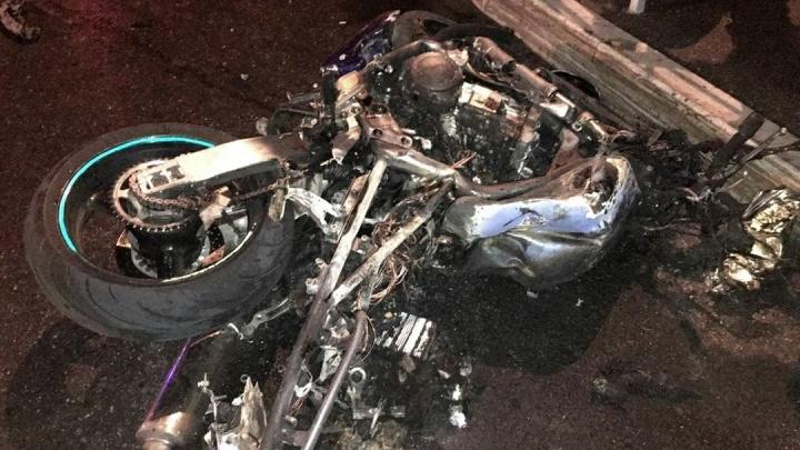 Появилось видео столкновения мотоцикла и легковушки, где погиб байкер