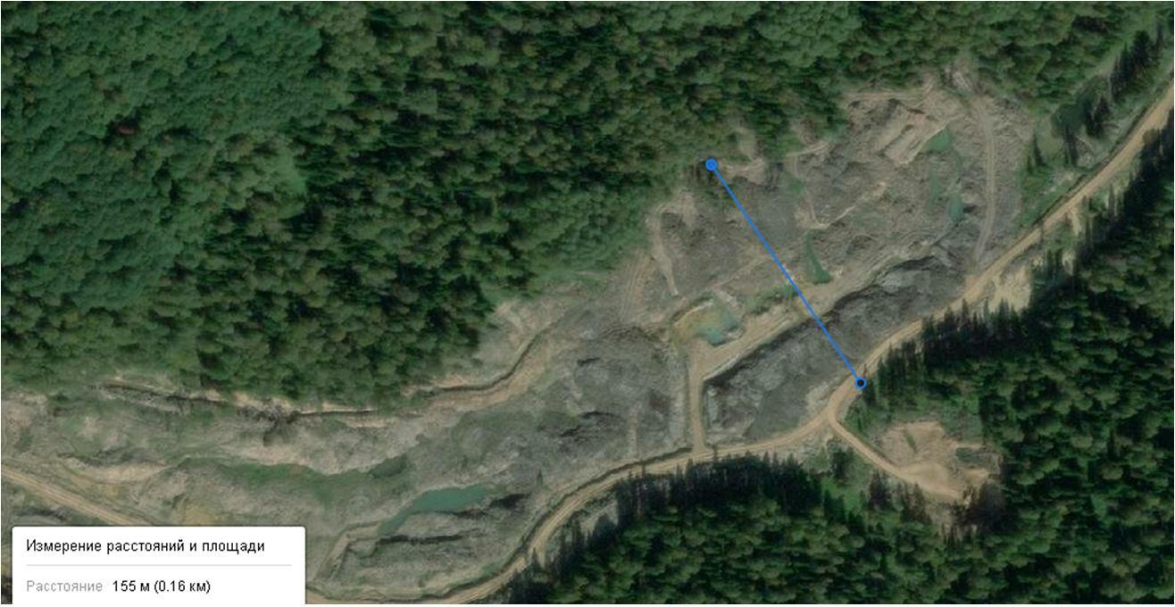 Ширина сплошной вырубки вдоль реки Конюхта в государственном заказнике составила почти 160 метров