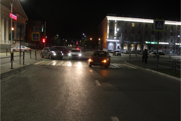 Авария произошла вечером в центре Кургана