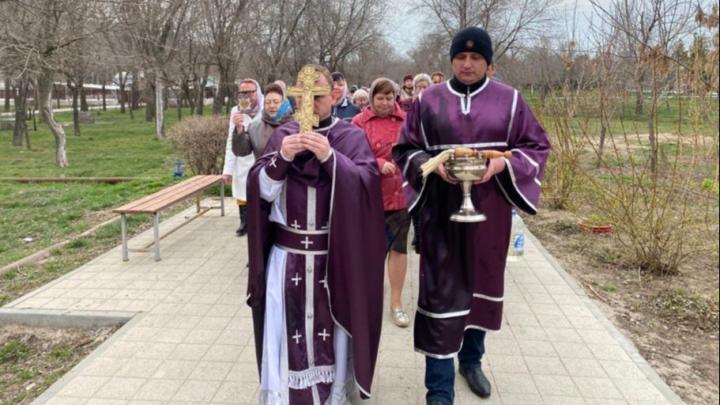 В Волгограде прошёл антикоронавирусный крестный ход
