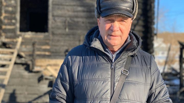 После пожаров на Береговой в Тюмени без крыши над головой остался пенсионер