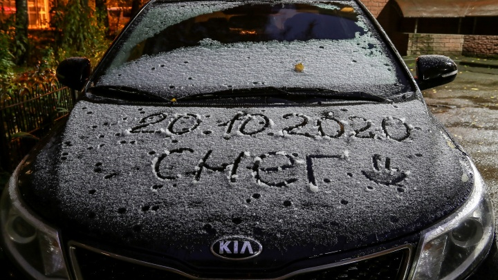 Робкий, белый, долгожданный: любуемся первым снегом в Нижнем Новгороде