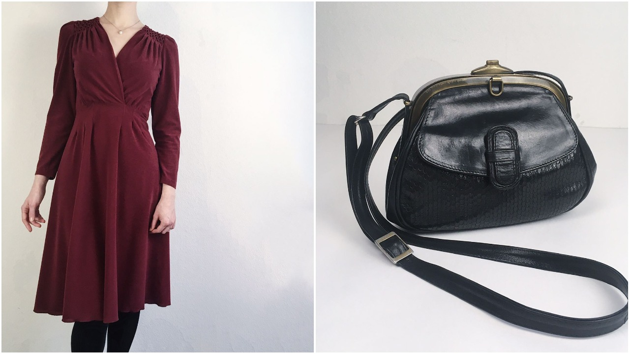 Винтажная сумка-ридикюль Ries Model времен 80–90-х из натуральной кожи, стоимость— 3000 рублей