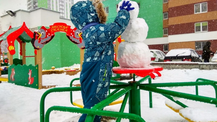 Зима вернулась! Смотрим атмосферные фото заснеженного Екатеринбурга