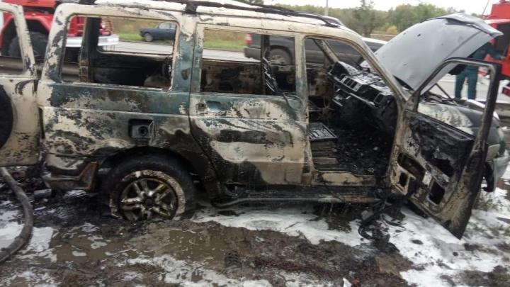 Взрыв внедорожника на Волгоградской попал на видео