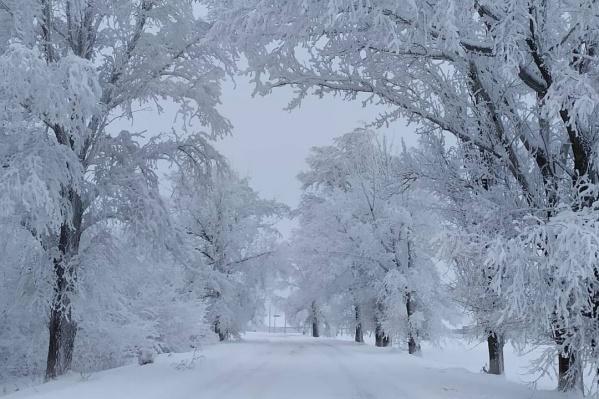 Утром в Миллерово наступила настоящая зима