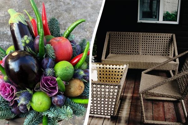 Идеей для бизнеса может стать и букет из овощей, и плетеная мебель