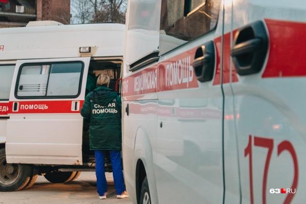 Пострадавшего ребенка доставили в больницу