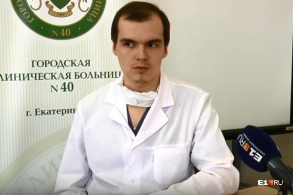 Виталий Белоусов лечит пациентов с коронавирусом